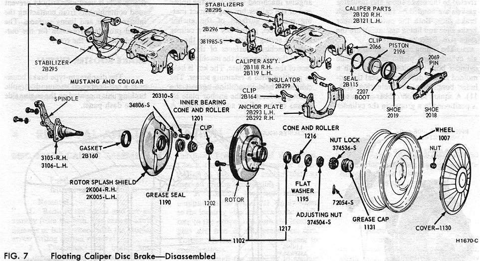 Drum Brake Embly Diagram | 1965 Mustang Brake Diagram Block And Schematic Diagrams